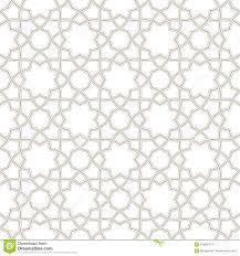 Arabic Pattern Geometric Floral Light Grey Background Arabic Pattern