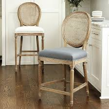Exceptional Louis Cane Back Counter Stool