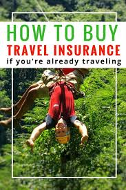 how to travel insurance after departure