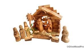 holy land olive wood nativity set carved tree nativity set 11pc holy family set bethlehem