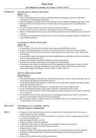 Social Media Skills Resume Social Media Strategist Resume Samples Velvet Jobs 6