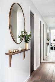 entry shelf and mirror