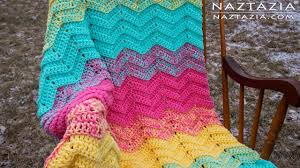 Double Crochet Chevron Pattern Best DIY Tutorial How To Crochet Double Sweet Ripple Baby Blanket