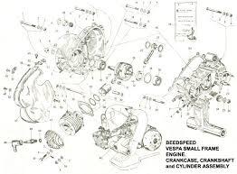 vespa part diagrams engine v50 bcrankcase crankshaft cylinder