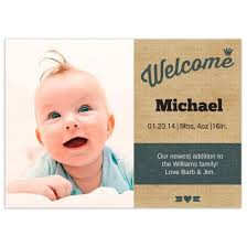 Welcome Birth Announcements Flat Cards Personalized Cards Photo Cards