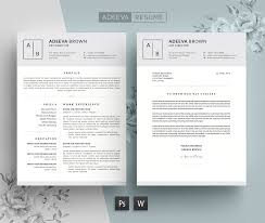 Simple Resume Template Simple Resume Template Brown Resume Templates Creative Market 36