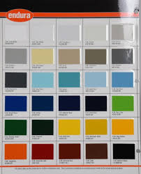 Industrial Paint Colour Chart Endura Paint