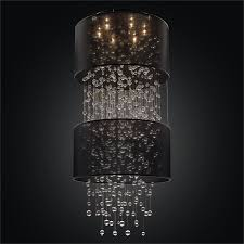 foyer crystal chandelier bubble ceiling light silhouette