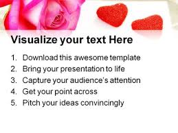 Love Power Point Background Love Letter Rose Wedding Powerpoint Templates And Powerpoint