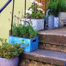 flower pot garden. Wonderful Pot Upcycle Crates And Buckets For Container Planting Intended Flower Pot Garden N