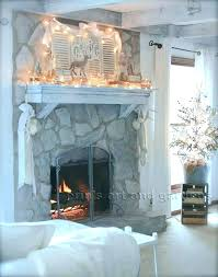 rock fireplace makeover painted rock fireplace painted