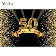 Make sure your 50th birthday party highlights the honoree with the following ideas. Yeele Happy 50th Birthday Party Photocall Background Gold Flash Woman Man Custom Vinyl Photography Backdrop For Photo Studio Background Aliexpress
