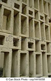 Small Picture Stock Images of 1960s design concrete block wall An open pattern