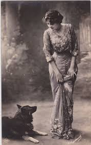 best vintage dog ideas vintage photos pictures greatgdean ldquo edwardian lady and her pet dog french postcard rdquo