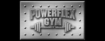 power flex gym fitness logo design