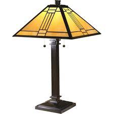 dale tiffany noir mission table lamp