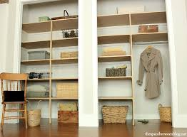 Building closet shelves Melamine Full View Of Wall To Wall Closet Shelves The Space Between Easy Diy Wall To Wall Closet