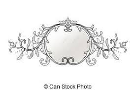 black vintage frame design. Vintage Frame Decor. Vector Collection Of Round And Square Frames, Design Element Black O