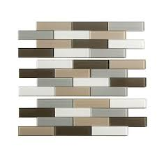 12 X 12 Decorative Tiles Aspect Subway Matted 100 in x 100 in Glass Decorative Tile 74
