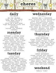 Weekly Household Chore List House Chore List Riverfarenh Com