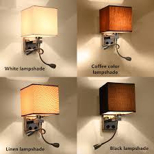 bedroom sconce lighting. Unique Design Modern LED Cloth Wall Lamp Sconce Light Hallway Bedroom Bedside Flaxen/ Lighting