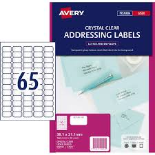 Avery Address Lables Avery Address Labels Crystal Clear 1625 Labels Warehouse