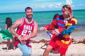 6ix9ines Bebe Feat Anuel Aa Debuts At No 1 On Hot Latin