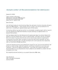Samples Of Letters Of Recommendation For College College Recommendation Letters Word Admission Letter
