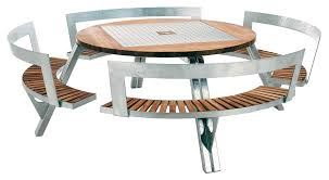 gargantua garden table adjule table and bench set teak steel by extremis made in design uk