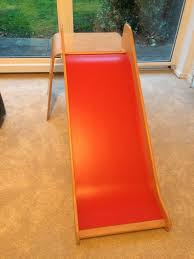 details about ikea wooden slide kids ikea virre slide with ladder and guard rail red beech