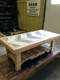 herringbone coffee table pallet hardwood furniture mirror square restoration har