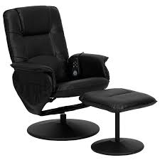massage chair recliner. leather heated reclining massage chair \u0026 ottoman recliner