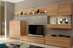 Plan And Organize Storage Wall Units For Bedrooms : Modern Living Room Idea  With Brown Wooden