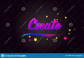 Create Postcard In Word Create Purple Handwritten Lettering Typography Word For