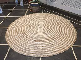 details about 4x4 feet braided round rug hardwood floors jute white woven rug
