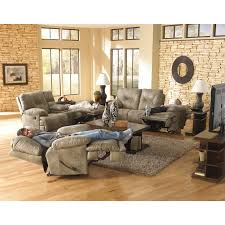 Reclining Living Room Furniture Sets Catnapper Voyager Reclining Sofa Set Brandy Walmartcom
