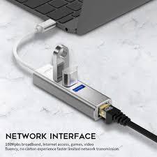 USB HUB USB Ethernet USB 3,0 2,0 zu LAN HUB für Xiaomi Mi Box 3/S Android  TV Set top Box Ethernet Adapter Netzwerk Karte USB LAN|USB-Hubs