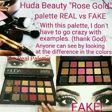 huda beauty rose gold palette real vs fake