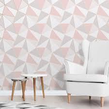 apex rose gold geometric wallpaper