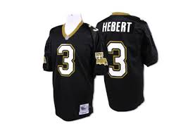 Mitchell And Ness Mens Bobby Hebert Authentic Black Home