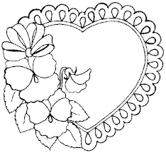Small Picture Hearts Coloring Pages
