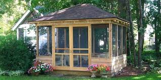 most beautiful gazebos images of garden wooden screen house plans wood kits building screened patio gaz