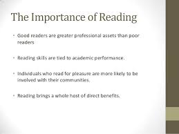 why reading is important 3 the importance of reading•