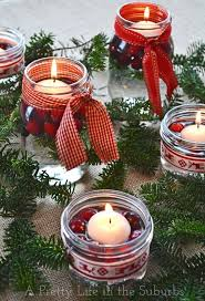 Decorate Jar Candles 100 Mason Jar Christmas Crafts Fun DIY Holiday Craft Projects 100