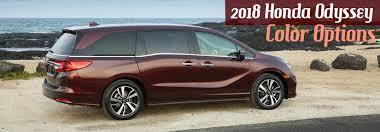 Exterior And Interior 2018 Honda Odyssey Color Options