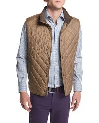 Peter Millar Hudson Quilted Vest, Brown &  Adamdwight.com