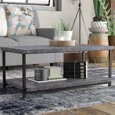 Slate top coffee table Cherry Vlad Slate Faux Concrete Coffee Table Wayfair Coffee Table With Slate Top Wayfair