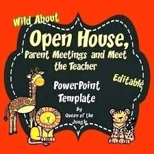 Open House Powerpoint Back To School Open House And Meet The Teacher Template