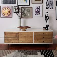 Reclaimed Wood Lacquer Media Console 70