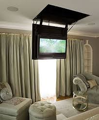 drop down TV in the bedroom Can we do this in the master new pad
